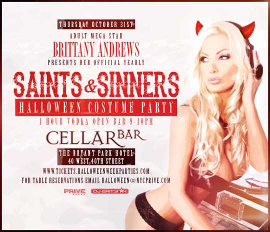 NightUp Halloween Event Giveaway Cellar Bar Brittany Andrew's Saints