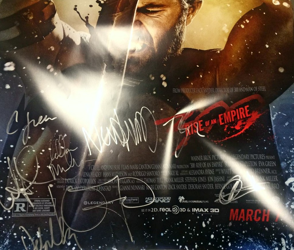 300ROAE Autographed poster