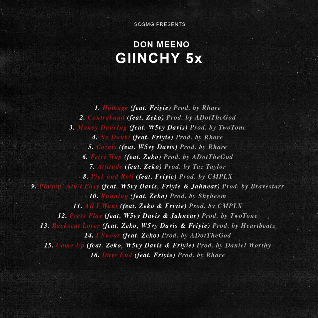 GIINCHY TRACKLIST FINAL